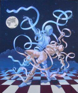 illuustrazione ballerini disegnati coi nastri per filosotango