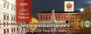 volantino evento tango in piazza roma a modena